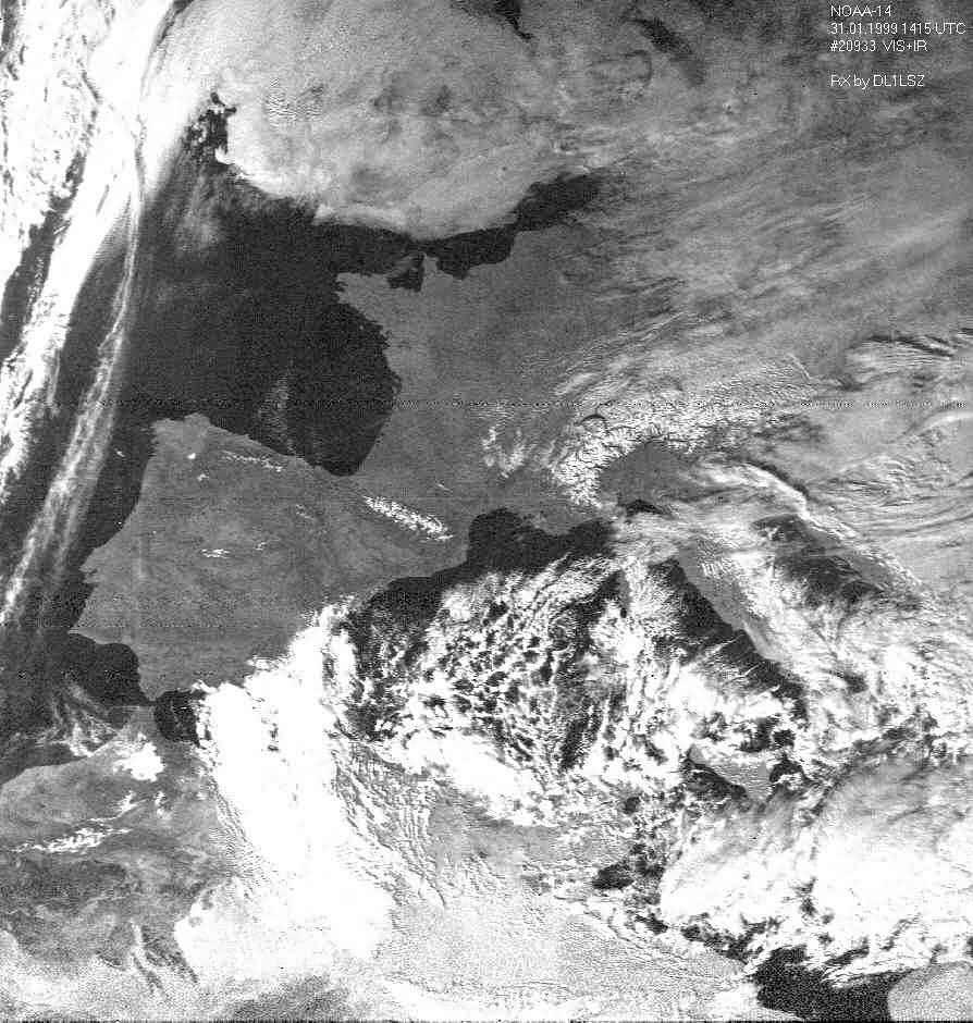 NOAA-14 VIS 31.01.1999 14:15 UTC