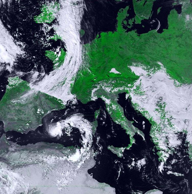 Ausschnitt NOAA-16 24.09.2000 1256 UTC