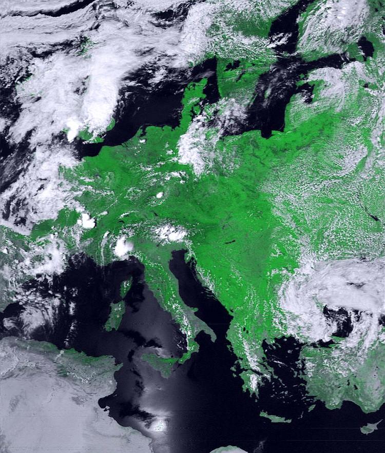 Ausschnitt NOAA-18 24.06.2005 1219 UTC