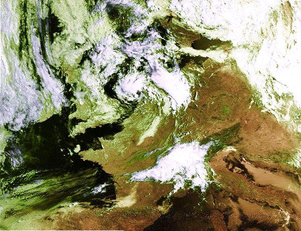 NOAA-15 False Color 21.07.2002